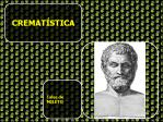 ECONOMIA - CREMATISTICA