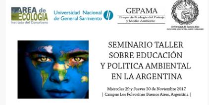 Mi presentación en el Seminario Taller sobre Educación y PolíticaAmbiental